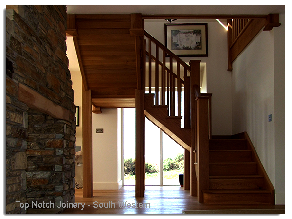 Top notch joinery staircase and stair double quater for Quarter landing staircase