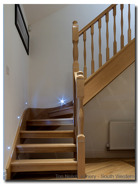 Top notch joinery staircase and stair kite winder for Wood floor 90 degree turn